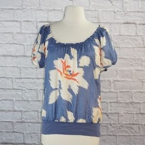 Ben and Lucia Floral Silk Top